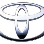 logo toyota 3d silver