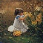 painting children kjb DonaldZolan 61FlowersforMother sm