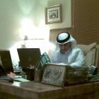 ممدوح سماح الشمري  في مكتب رئيس تحرير مجلة حول الخليج