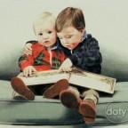PortraitBrothersReadingBook600