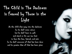 the child in darkness