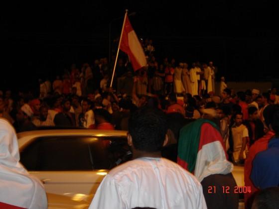 إحتفالات فوز المنتخب على البحرين المعبيلة مسقط