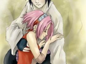 sasuke x sakura   coloured by ninjin nezumi