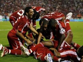 فرحة لاعبين المنتخب الوطني في خليجي 19