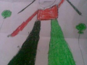رسم طالبه بالمرحله الابتدائيه الابداع من الطفوله