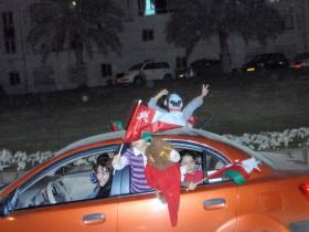 فرحة الجمهور العماني بكأس الخليج 19