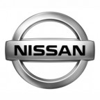 nissan silver chrome logo white 3611