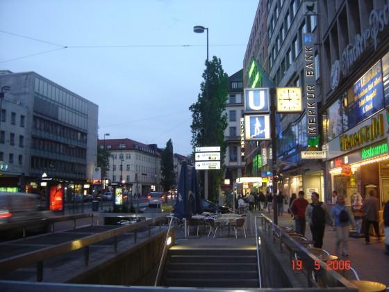 شارع الحي التجاري ميونخ المانيا