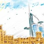 رسم لبرج العرب :)
